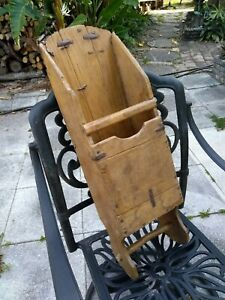 Very Old Antique Hand Made Primitive Grain Harvest Wooden Scoop Farm 100 Years