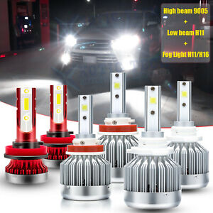 For Toyota Highlander 2014 2019 Led Headlight Fog Light Bulb Combo Kit 6000k