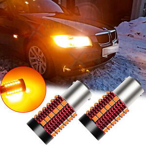 Error Free Amber 1156 Led Turn Signal Light Bulb For Bmw 1 2 3 4 Series X1 X3 X5
