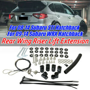 For Subaru Wrx Sti Hatchback 2008 2014 Rear Roof Wing Spoiler Riser Extension