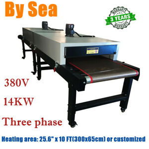380v 14kw Conveyor Tunnel Dryer 13ft Long X 25 6 Belt For Screen Printing
