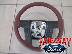 13 Thru 14 F 150 Oem Ford Leather Steering Wheel King Ranch With Switches New