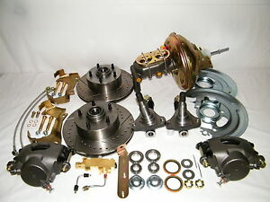 Gm Front Disc Brake Conversion Kit Spindles Drilled Slotted Rotors A f x Body