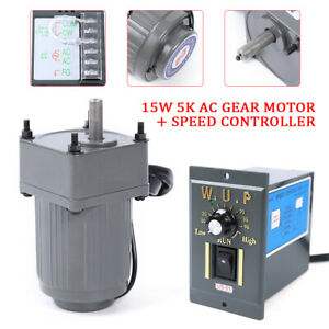 110v 15w 5k Ac Gear Motor Electric Motor Variable Speed Controller 270 0rpm