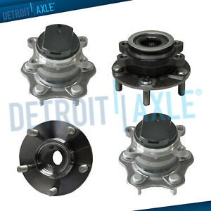 Front Rear Wheel Bearing Hub Assembly For 2008 2013 Nissan Rogue 5 Lugs Fwd