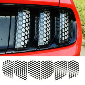 Rear Taillight Light Stickers Honeycomb For Ford Mustang Accessories 2015 2017