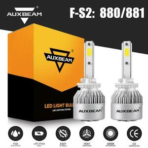 Auxbeam 880 881 Led Headlight Bulbs Hi low Kit 72w 8000lm Turbo Fog Lights 6500k