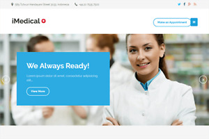 Imedical Health Or Medical Business Wordpress Website with Demo Content