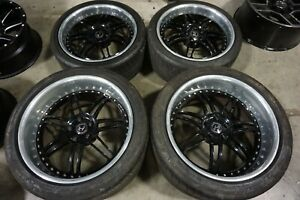 19 20 Hennessey Hre 3 piece Black Wheels Rims Michelin Tires 05 06 Ford Gt