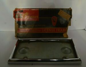 Nos Pioneer Deluxe License Plate Frame In Original Box Nice Item