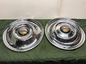 1950 1951 1952 1953 Oldsmobile Hubcaps 15 Pair Oe Deluxe 88 98