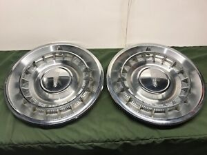 1961 Oldsmobile Starfire 15 Hubcap Wheelcover Pair Oe 88 98