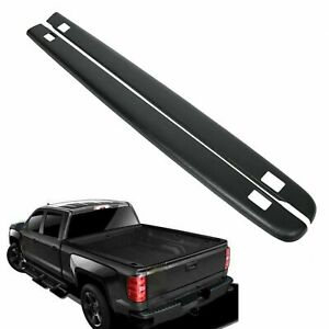 For 07 13 Chevy Silverado 5 8ft Bed Black Truck Rail Caps Molding W Holes