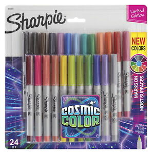 Sharpie Cosmic Color Permanent Markers Ultra Fine Assorted Colors Set Of 24