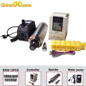 2200w Spindle Kit Water cooled Controller Water Pump er20 13pcs Cnc Engraver