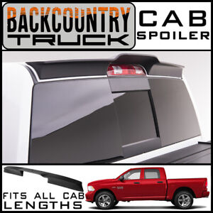 Backcountrytruck Matte Black Truck Cab Spoiler Fits 2009 2018 Dodge Ram