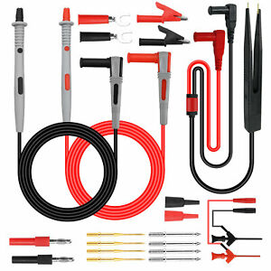21 In 1 Multimeter Test Clip Lead Kit Heavy Duty Banana Tester Probe For Fluke
