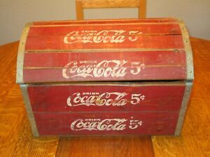 Vintiage COCA COLA WOOD CRATE Storage Box built from Coke crates