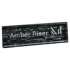 Personalized Black Acrylic Name Plate Desk Nameplate Home Office Decor