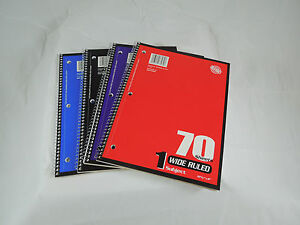 Wide Rule Spiral Bound Notebook 70 Sheet 10 5 By 8 Inch Notebooks Case Of 24