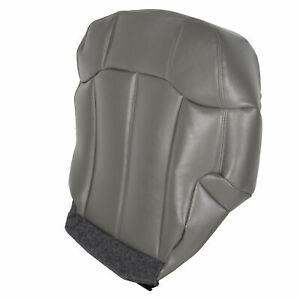Left Driver Bottom Leather Seat Cover For 99 02 Chevy Silverado Tahoe Suburban