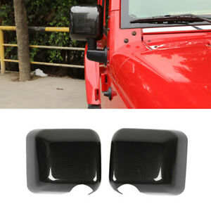Rearview Mirror Cover Decoartion For Jeep Wrangler Jk 2007 2017 Car Accessories