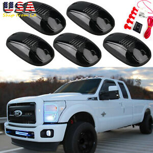 5x White Smoked Lens Led Roof Lamp Rooftop Driving Light For Ford F 150 F 250
