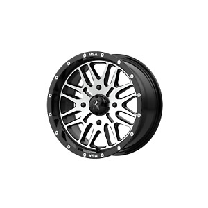 Msa Offroad Wheels Brute 22x7 4x156 00 Gloss Black Machined 10 Mm Wheel