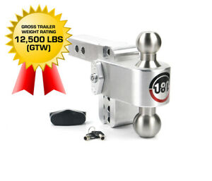 Weigh Safe 180 Hitch Ltb4 2 4 Drop Hitch 2 Receiver 12 500 Lbs Made In Usa