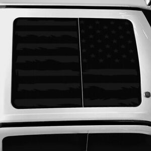 Vinyl Roof Decal For Ford F150 F250 F350 Raptor 2015 2021 Distressed Flag Black