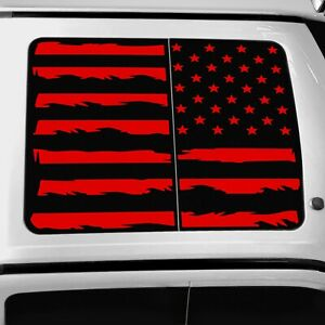 Vinyl Roof Decal For Ford F150 F250 F350 Raptor 2015 2021 Distressed Flag Red
