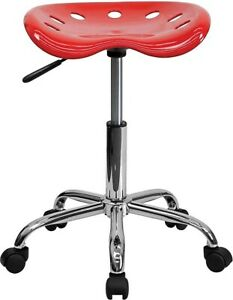 Flash Furniture Vibrant Tractor Seat Stool Red Lf214ared