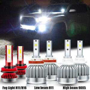 For Toyota 4runner 2010 2020 Led Headlight Bulbs Kit High low Beam Fog Light