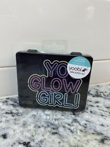 Yoobi Mini Desk Supply Kit you Glow Girl Black Case W pink Supplies Sealed New