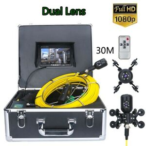 7 Inch 30m 1080p Hd Dual Camera Lens Drain Sewer Pipeline Industrial Endoscope