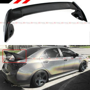 For 2014 2019 Toyota Corolla M Style Gloss Black Jdm Stand Up Trunk Spoiler Wing