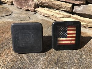 2 Inch Tube Black Rubber Hitch Tube Covers New 2 Total Rustic Usa Flag
