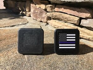 2 Inch Tube Black Rubber Hitch Tube Covers New 2 Total Blue Line Usa Flag