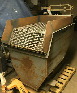 Seedburo 1000 Lb Weigh Bin Mobile Scale Cart Grain feed seed etc