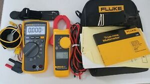 Used Fluke 116 323 Electrician Kit With Accessories Great Tool Check It Out