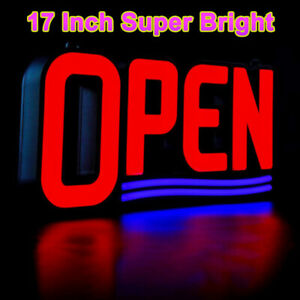 Ultra Bright Led Open Sign 17 x8 Professional Grade Super Neon For Business