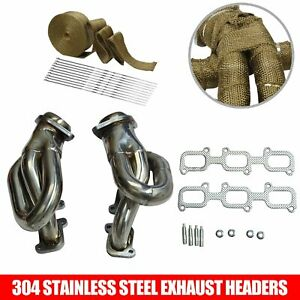 Stainless Exhaust Manifold Headers Shorty Fits Ford Mustang 2011 2017 3 7l V6