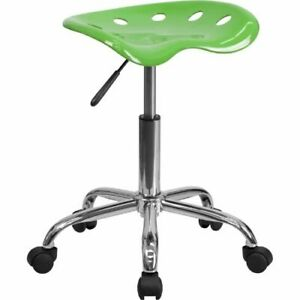 Vibrant Spicy Lime Tractor Seat And Chrome Stool Flalf214aspicylimegg