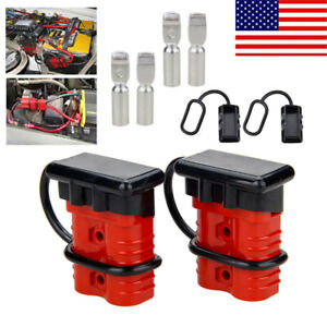 1pair 175a Sb175 Connector 2 Gauge Awg Cable Wire Quick Connect Battery Plug Kit