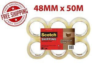 Scotch Commercial Grade Clear 48mm X 50m Bulk Tape Fast Free Shipping Mmm 91764