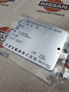 Model Number Plate Genuine Datsun For Nissan 240z 280z B110 B120 B210 B310 510