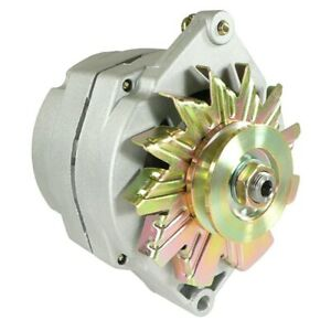 New Alternator For 10si Delco 1 Wire 63 Amp With Tach R Terminal Stud On Rear
