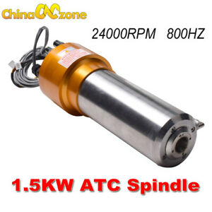 Atc Spindle Motor 1 5kw 24000rpm 800hz Automatic Tool Changes For Cnc Machine