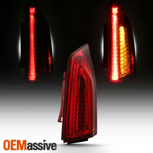 Fits 13 18 Cadillac Ats Passenger Right Side Red Full Led Drl Signal Tail Light