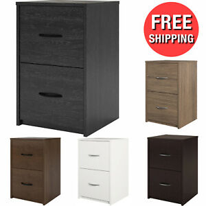 2 Layer Drawer File Cabinet Office Filing Document Organizer Wood Storage Home